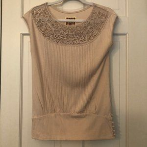Anthropologie FP Women's Size Small Tan Top